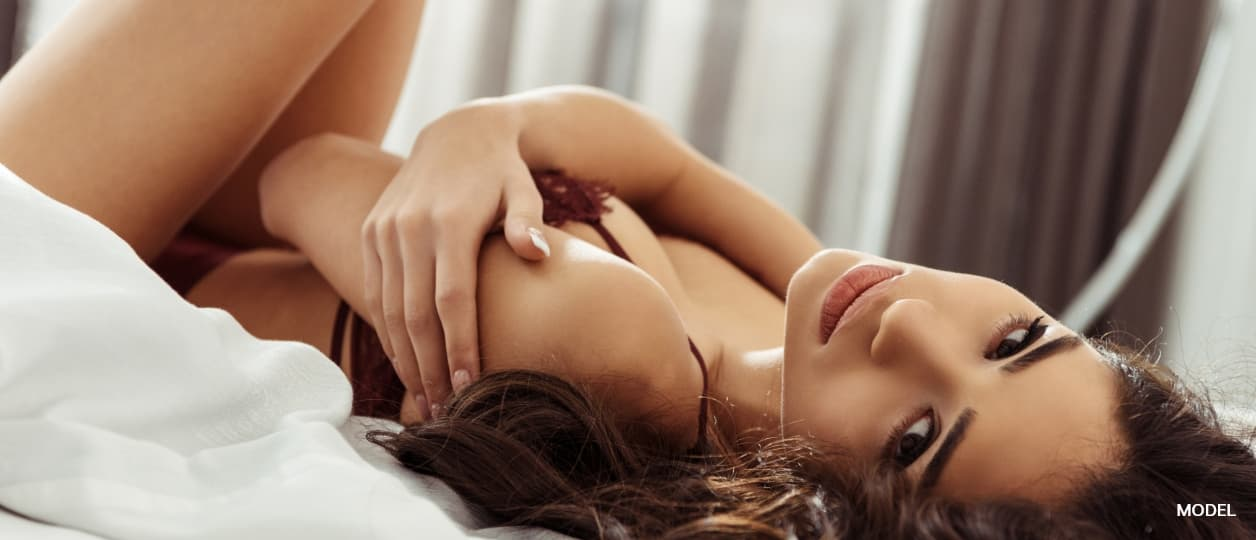 Beautiful woman for breast augmentation
